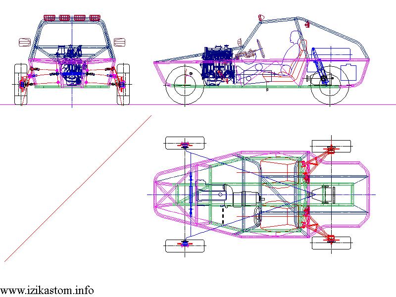Багги 4х4 чертежи